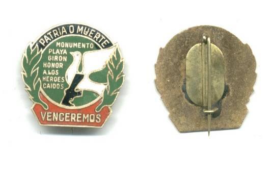 1978 Cuba VENCEREMOS Playa Giron pin badge 2 in > Militaria